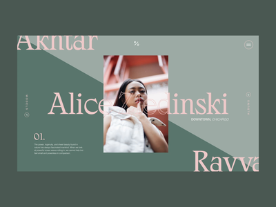 Fashion Photography Slider fashion web serif minimal typography clean website ux web design ui