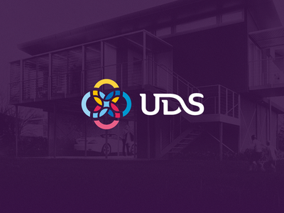 UDS Logo colourful typography circle middle east logo uds