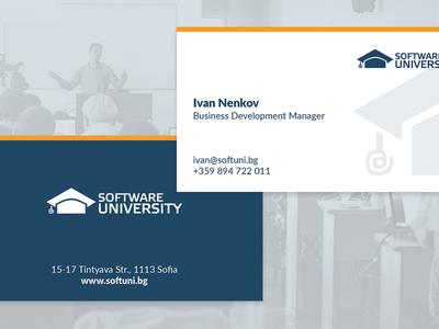 Business Cards for Software University education softuni software university business card cards print