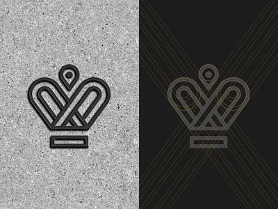 Symbol construction for Sofia Luxury Residence crown mark symbol logo