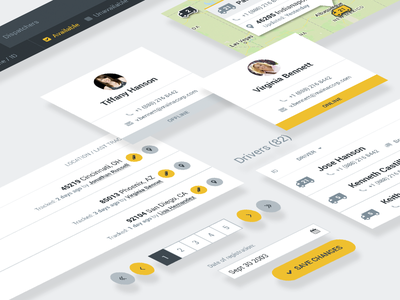 UI Elements from Maina Expedite Platform transportation truck delivery flat material ui ux