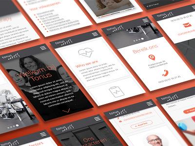 Responsive website design for Tonus flat minimal clean ux ui responsive tonus