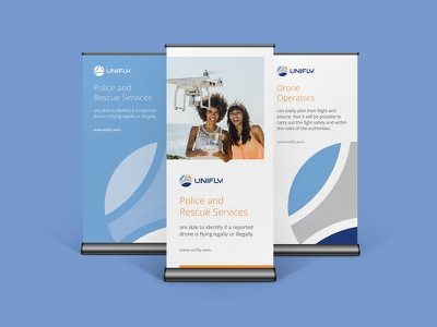 Brand Identity Refresh for Unifly aviation drone logo branding