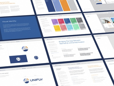 Brand Guidelines for UniFly pilot flight drone aviation redesign logo branding unifly brandbook guidelines brand