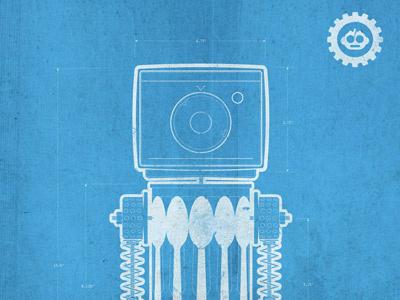 Re-Bots Blueprints illustration robots icon