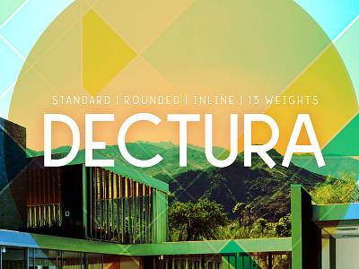 Dectura Typeface typeface midcentury retro geometric