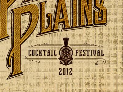 Cocktail Festival vintage typography festivals logo