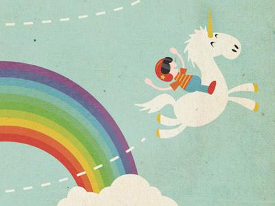 Mixed Metaphors - Rainbow illustration typography poster