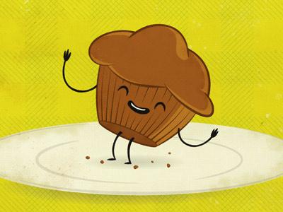 Easy as... muffins? metaphors texture vintage illustration