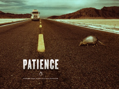 Patience - Character Traits typography icon photo comps