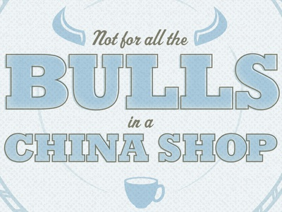All The Bulls illustration texture typography mixed metaphors