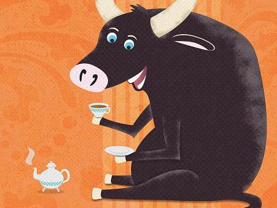 All The Bulls Illustration illustration texture tea bull mixed metaphors