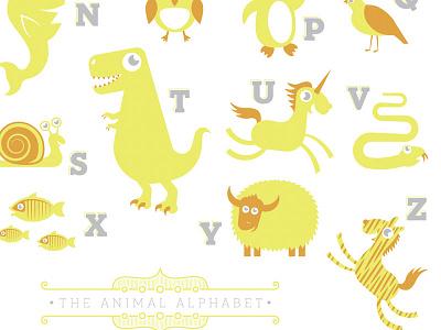 Animal Alphabet illustration animals baby infant alphabet