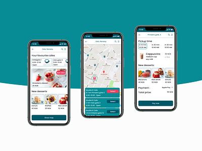 Coffee Shop Mobile App ui ux design app