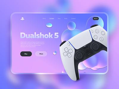 Dualshok 5 - Concept landing page branding ui