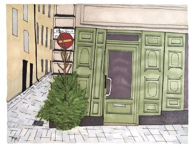 Gamla Stan stockholm illustration drawing