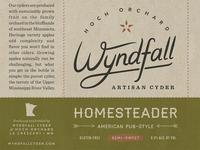 Wyndfall Cyder Label