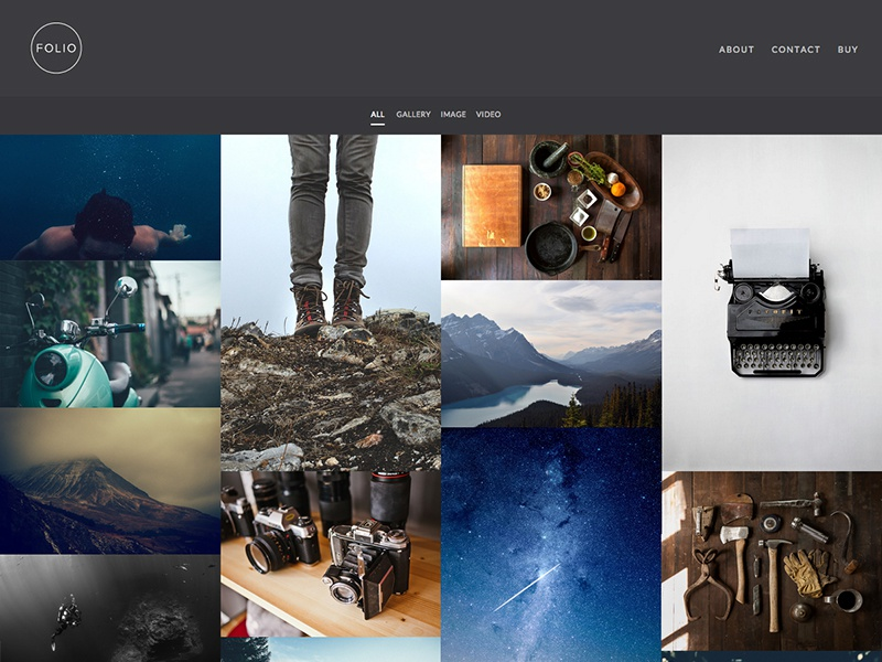 Folio WordPress Theme theme portfolio wordpress