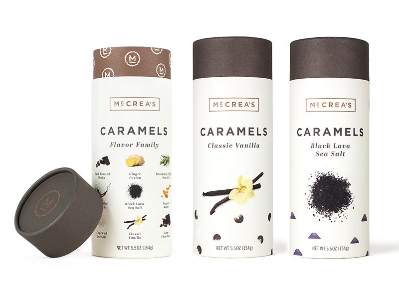Caramel packaging minimal tube packaging