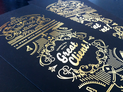 Colorkite New Year Greeting 2013 gold foil holiday client