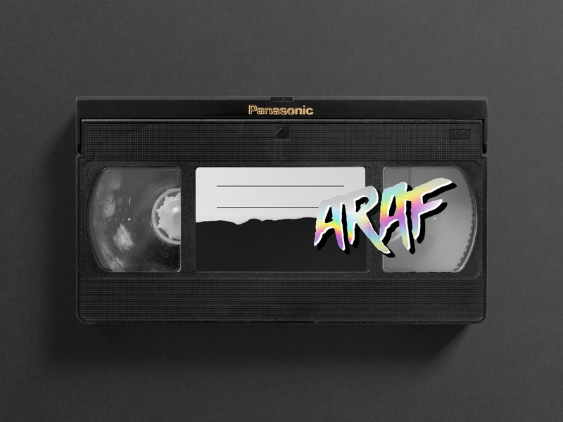 VHS Sticker rad logo iridescent holographic sticker vhs