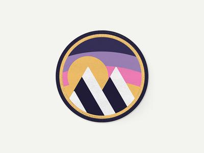 Maya CC sunset adventure cycling badge patch
