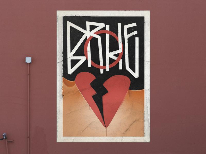 Broke texture valentine broke broken love poster