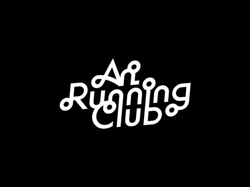 Ari Running Club thailand thai typography logo running club run running ari