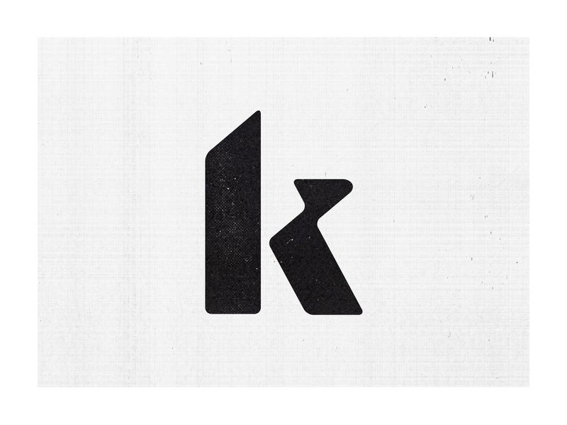 k lettering type typography letter k