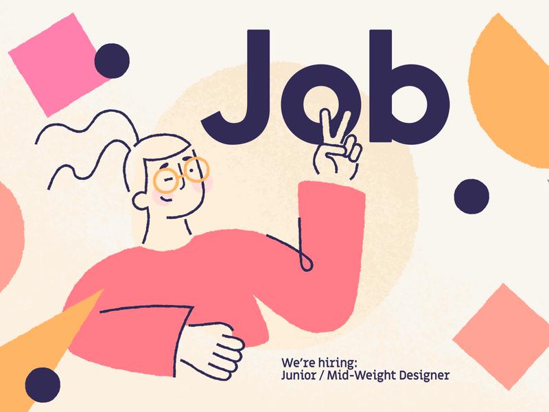 We're hiring! design studio graphic design job illustration designer bristol
