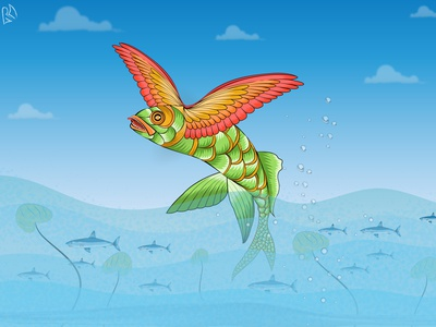Flying fish line art lineart children book illustration childrens illustration childrens book book illustration book cover design book cover concept design illustration fish illustration concept art fantasyart background art vectorart vector digital painting digital illustration digital art digitalart