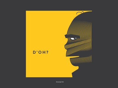 Homer by bluespinik digital art illustration funny homer simpson lineart