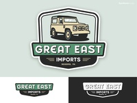 Auto Business Logo land rover typography branding truck reading pennsylvania green imports european lettermark cars automotive business logo illustration range rover