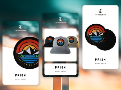 Prism - Interchangeable Woven Patch apparel design apparel design brand clothing brand clothing hat patch design patch interchangeable patches interchangeable hats outdoors creative design apparel graphics mountains nature prism colorful illustration getpatched