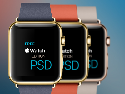 """Apple Watch """"Edition"""" PSD apple watch apple watch psd watch psd template gold edition leather leather band"""