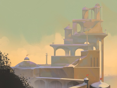Color and Light Workout 2 illustration environment imaginery sunset city
