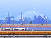 Rail Europe Holiday Card - Atomic Kid Studios - Amsterdam