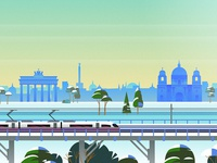 Rail Europe Holiday Card - Atomic Kid Studios - Berlin