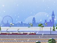 Rail Europe Holiday Card - Atomic Kid Studios - London