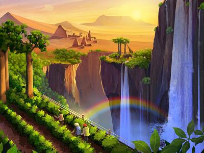 Exodus Travels: Wildlife Brochure table mountain animals baobab pyramids rainbow sunset desert waterfall exodus travels wildlife
