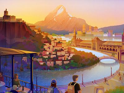 Exodus Self-Guided Brochure 2020 town sunrise grazalema mountain sea seville spain travel exodus