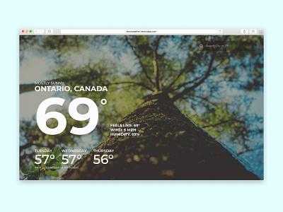 FancyWeather weather browser web design design ui web app heroku