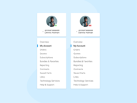 Dashboard Account Menu figma status account ecommerce navigation menu navigation dashboard product design ui