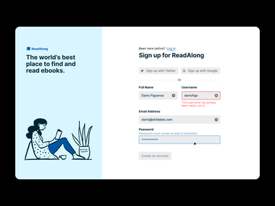 Sign Up Form form sign in sign up figma product design ux interaction web design ui