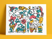 Character Riso Flash Sheet