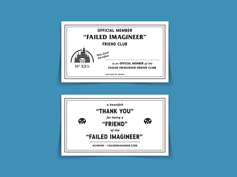 Failed Imagineer Membership Card