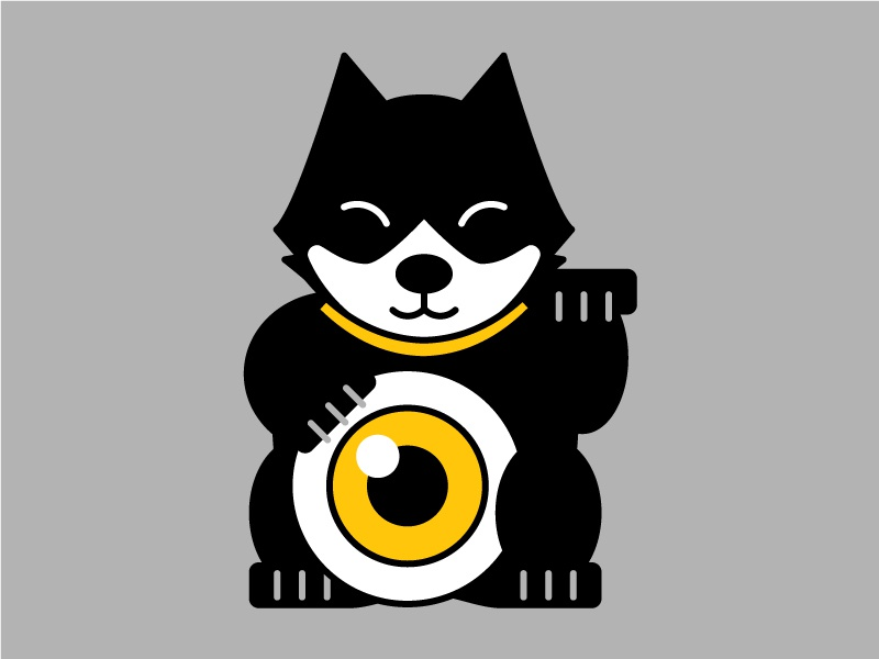 Felix the Lucky Cat felix the cat illustration lucky cat cat