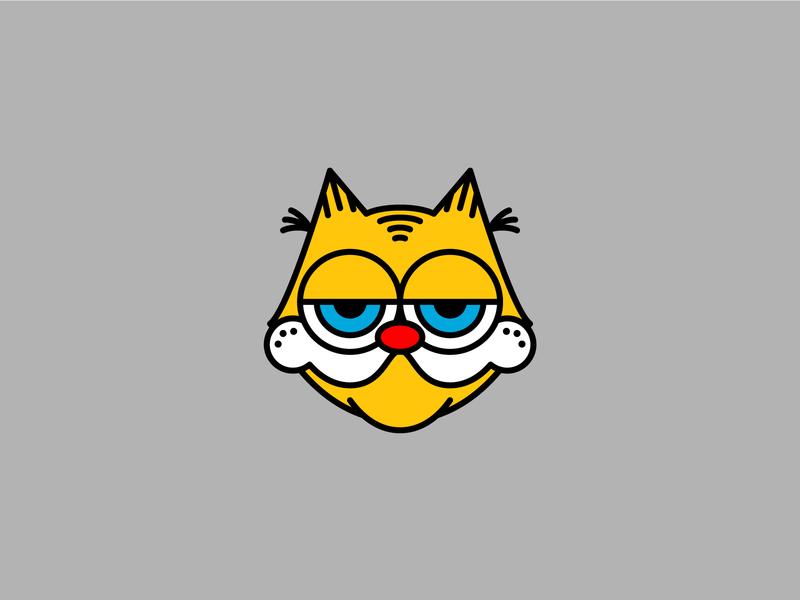 Hates Mondays. Loves lasagna. illustration felix the cat
