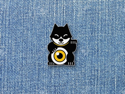 Felix the Lucky Cat - Enamel Pin pin enamel pin enamelpin enamel illustration felix the cat