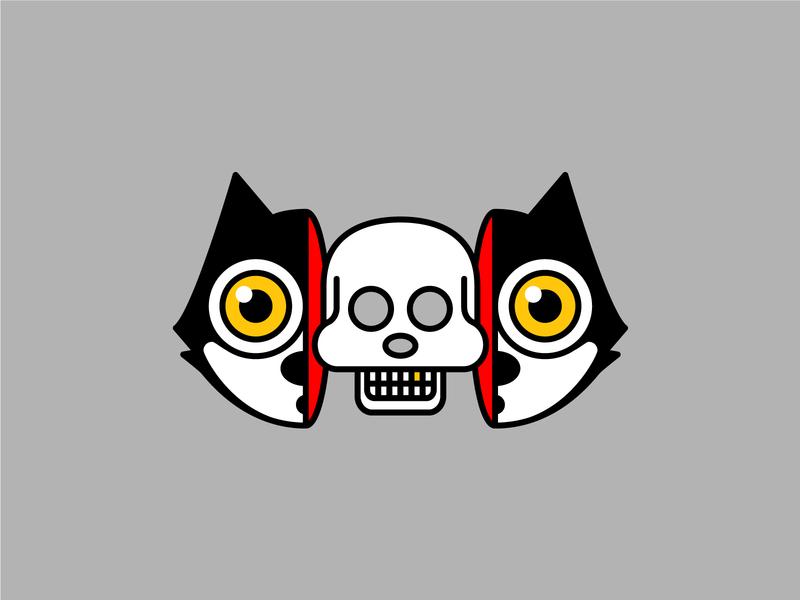 🐱💀🐱 illustration felix the cat